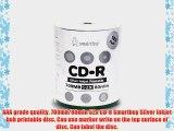 Smartbuy 700mb/80min 52x CD-R Silver Inkjet Hub Printable Blank Recordable Media Disc (1800-Disc)