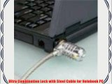 Case of 25 CODi 4-Digit Combination Notebook Computer Titanium Cable Lock for Mac and PC QTY 25