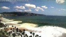 """Captan fenómeno """"mar de fondo"""" en playas mexicanas"""