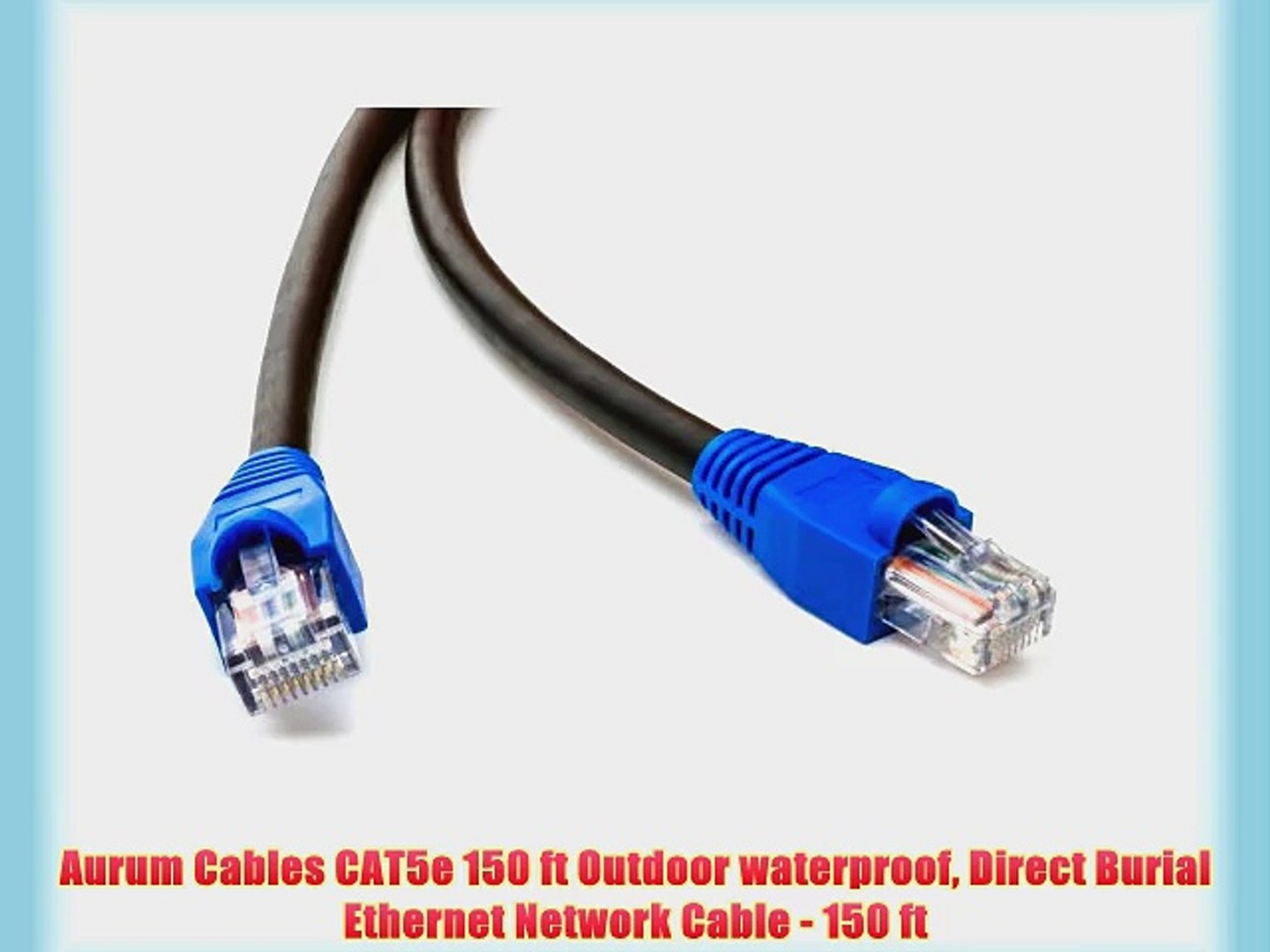 100FT CAT5 e OUTDOOR UNDERGROUND BURIAL CABLE WIRE WATERPROOF UV Copper 24-AWG