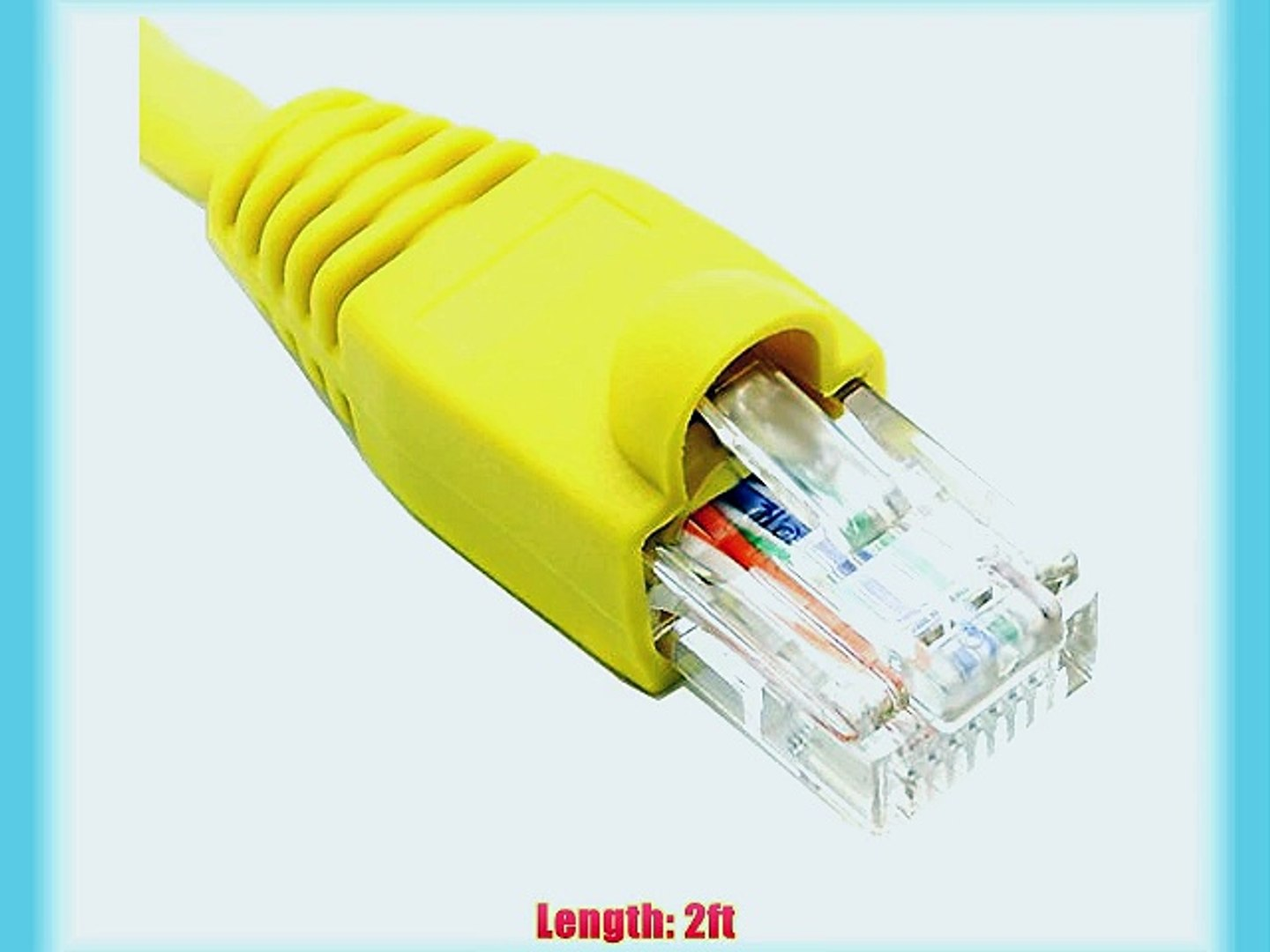 2FT Cat6 Yellow Ethernet Network Patch Cable RJ45 Lan Wire 2 Feet 25 Pack