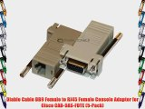 Diablo Cable DB9 Female to RJ45 Female Console Adapter for Cisco CAB-9AS-FDTE (5-Pack)