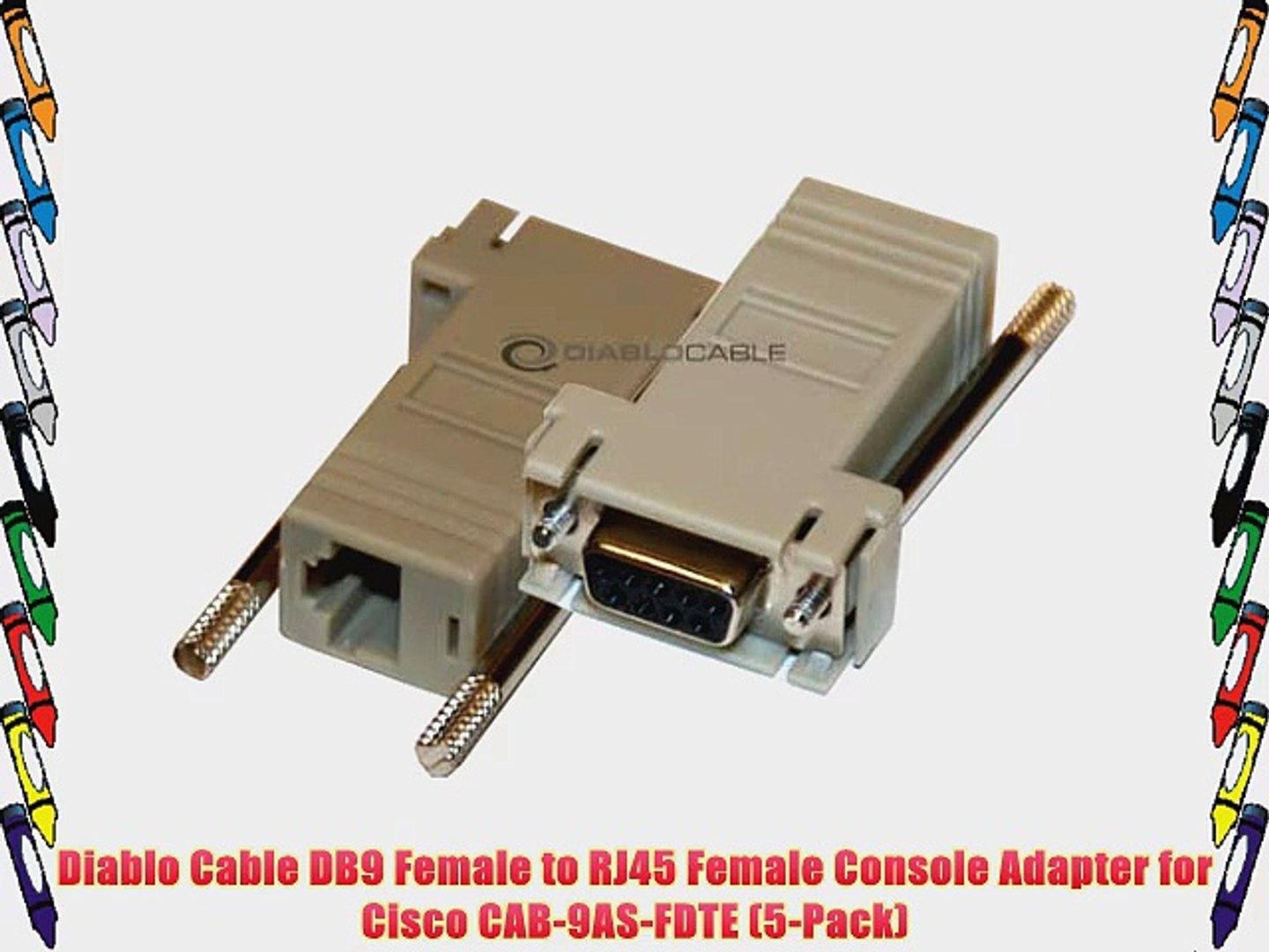 SF Cable DB9 Male to RJ45 Modular Adapter