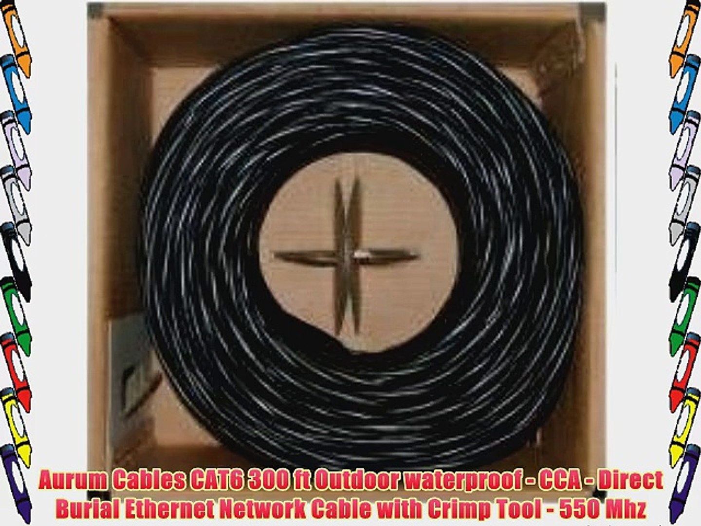 Cables.com 250 Feet Cat5e Outdoor Waterproof Shielded Direct Burial Ethernet Cable