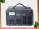 ELC TR-5000 5000 Watt Voltage Regulator with Transformer - Step Up/Down - 110V/220V - Circuit