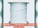 1000 ft. RG59 Siamese CCTV Combo Coaxial Cable White - 20AWG RG59   18/2 18AWG Power