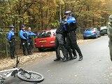 Demo Bikers Handhaving Amsterdam in Beekbergen tijdens BOA-dag