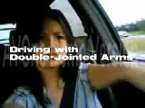Driving with double-jointed arms