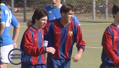 Never-before-seen video of Leo Messi with FC Barcelona's U-16 team