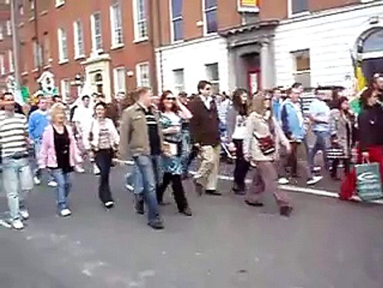 Start of Dublin Easter 1916 Commemoration 2007