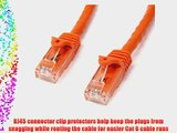 StarTech.com Orange Gigabit Snagless RJ45 UTP Cat6 Patch Cable - 100 Feet (N6PATCH100OR)