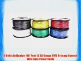4 Rolls Audiopipe 100' Feet 12 GA Gauge AWG Primary Remote Wire Auto Power Cable
