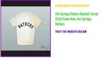 Hot Springs Bathers Baseball Jersey Stitch Sewn New