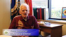 Honoring Our Veterans and Volunteers - The Story of WW II Veteran Zane Schlemmer