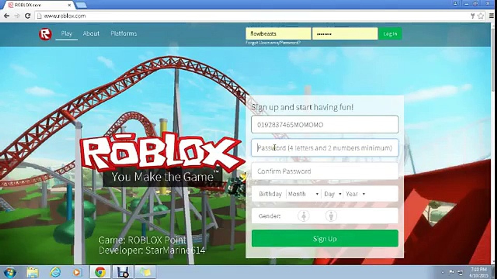 Roblox Help Making An Account Video Dailymotion