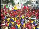 Hugo Chavez en Concentracion de trabajadores Socialistas con motivo del 1ero de Mayo Dia Internacional de los Trabajadores. Av Urdaneta Caracas 1