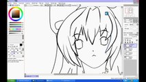 Drawing anime 3 - sketch - draw - line art - colouring - cging - tutorial