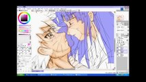Drawing anime 2 - sketch - draw  - colouring - cging - tutorial