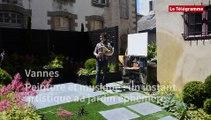 Vannes. Peinture et musique : un instant artistique au jardin éphémère