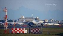 [成田空港] Big Jets landing (Boeing 777-300/200, 747-400, Airbus A380) at Narita Airport
