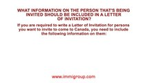 What information on the person that's being invited should be included in a Letter of Invitation?