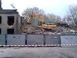 Wyburzanie budynku - Warszawa ul. Dolnośląska