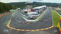 Spa2015 Race 1 Start Hyman Spins Pommer and Menezes Spins