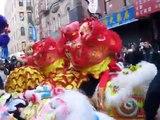 NYC Chinatown New York Chinese New Year Lion Dance Drumming 2014