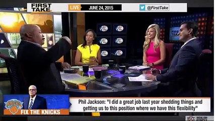 ESPN First Take - Phil Jackson on New York Knicks : 'I did a great job'