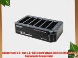 Dyconn Dubbler Dock Pro  USB 3.0 6-Bay 1:5 Hard Drive Duplicator 2.5/3.5-Inch HDD with HDD