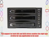 StarTech.com Hot Swap SATA/SAS Backplane RAID Bays - 3 Hard Drive Mobile Rack - 3 Drive SAS