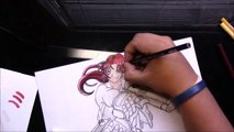 "Drawing of Revy (a.k.a. ""two hands"") from Black lagoon."