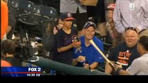 Young Indians fan wins over Miguel Cabrera