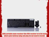 BlueFinger Cool Black Wireless Keyboard and Mouse Combo Set   BlueFinger Customized Mouse Pad