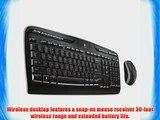 Logitech Wireless Desktop MK320 Keyboard and Mouse - Keyboard - Wireless Keys - USB - Mouse