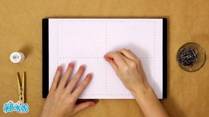 Eine Tabelle mit Nägeln und Draht