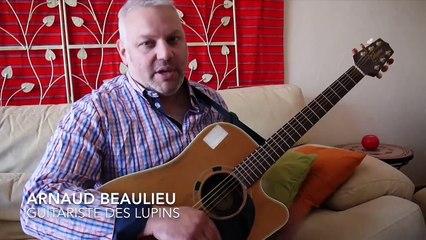 Arnaud Beaulieu, membre des Lupins : le cœur guitare