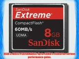 Sandisk 8GB Extreme CF memory card - UDMA 60MB/s 400x (SDCFX-008G Bulk Package)