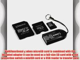 Kingston Mobility Kit - 4 GB microSDHC Flash Memory Card with SD and miniSD Adapters   USB