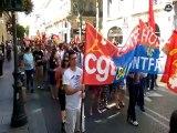 Avignon : manifestation contre l'austérité