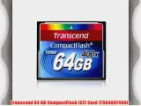 Transcend 64 GB CompactFlash (CF) Card (TS64GCF400) -