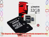 Professional Kingston 32GB MicroSDHC Card for Huawei Ascend Mate 2 4G with custom formatting