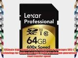 Lexar Professional 600x 64GB SDXC UHS-I Flash Memory Card LSD64GCTBNA600