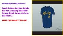 Fresh Prince Carlton Banks Bel-Air Academy Baseball Jersey Stitch Sewn