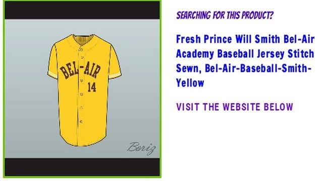 Fresh Prince Will Smith Bel-Air Academy Baseball Jersey Stitch Sewn