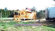 maison en bois   Comment construire un chalet en bois dans     quatre heures!
