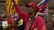 Protesters in Hawaii block construction of one of the world's largest telescopes