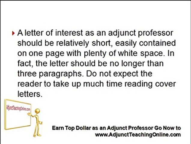 Cover Letter Adjunct Professor from s1.dmcdn.net