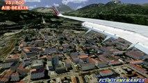 FSX Flight Simulator X HD Landing@Innsbruck 737-800 AirBerlin Alienware 1080p