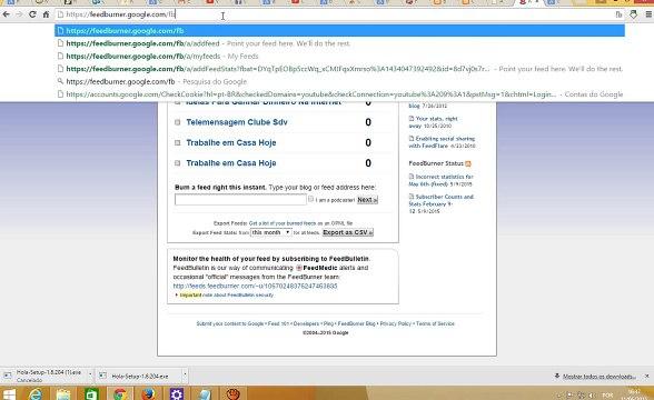 Como Configurar e Cadastrar o Feed do Blog no FeedBurner - Vídeo Dailymotion